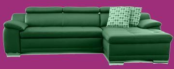 couch leder grau