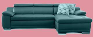 echtleder sofa braun