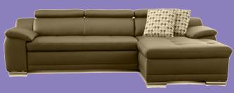 kunstleder sofa braun