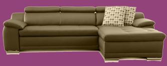leder sofa garnitur