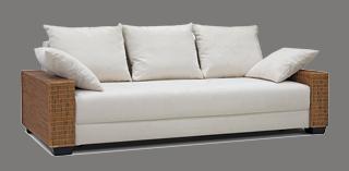 rattan couch mit schlaffunktion