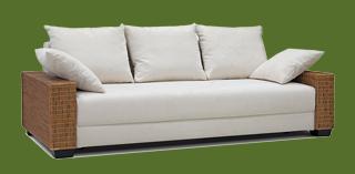 rattan sofa 2 sitzer