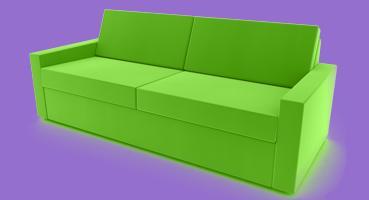 rote sofa