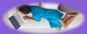 schlafcouch blau