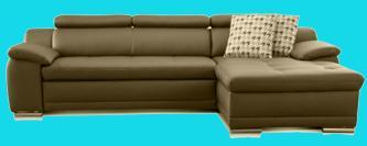 sofa antik leder