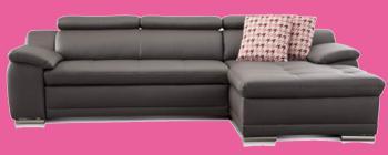 sofa grau leder