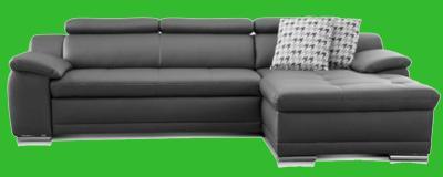 sofa leder grau