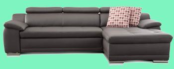 sofa leder schwarz