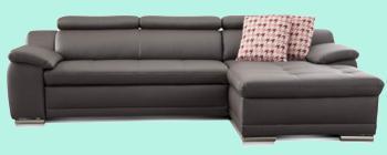 sofa rot leder