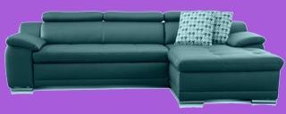 sofa schwarz leder