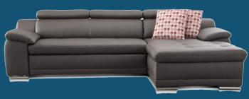 sofa u form leder
